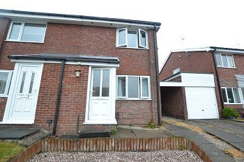 Thumbnail 2 bed semi-detached house to rent in Madron Avenue, Macclesfield, Cheshire