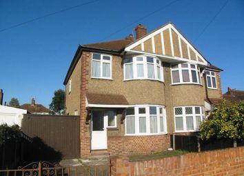 Thumbnail 3 bed semi-detached house to rent in Cheyne Avenue, Whitton, Twickenham