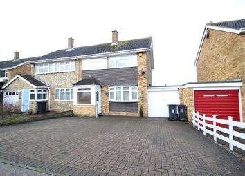 Thumbnail 3 bed semi-detached house for sale in Grangeways Close, Northfleet, Gravesend