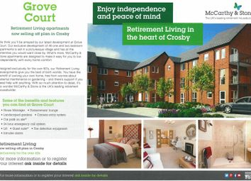 Thumbnail 1 bed flat for sale in Grove Court, 20 Moor Lane, Crosby