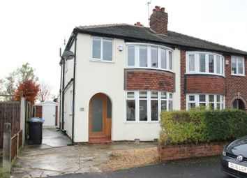Thumbnail 3 bedroom semi-detached house to rent in Brunswick Road, Altrincham