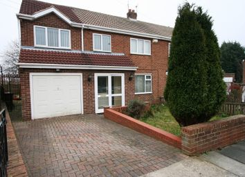 Thumbnail 4 bedroom semi-detached house for sale in Carlton Crescent, East Herrington, Sunderland