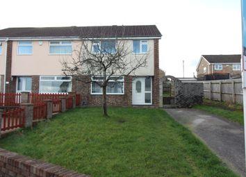 Thumbnail 3 bedroom semi-detached house to rent in Rhosili Road, Cefn Hengoed, Hengoed