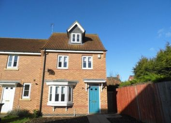 Thumbnail 3 bed end terrace house to rent in Hardwicke Close, Grantham