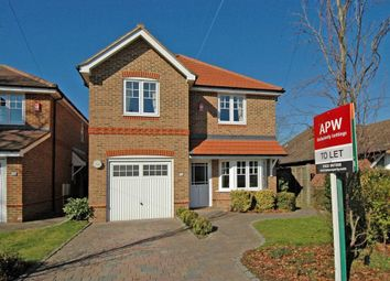 Thumbnail 4 bed detached house to rent in Green Lane, Hersham