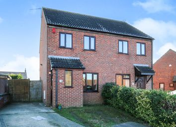 Thumbnail 2 bed semi-detached house for sale in Westfields, Attleborough