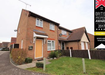 Thumbnail 2 bed end terrace house for sale in Polstead Close, Rayleigh