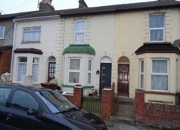 Thumbnail 2 bed terraced house for sale in Wellington Road, Gillingham, Kent.