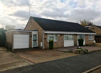 Thumbnail 2 bed semi-detached bungalow for sale in Crowson Crescent, Northborough, Peterborough