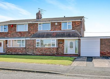 Thumbnail 3 bed semi-detached house for sale in Bamburgh Close, Blyth