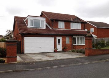 Thumbnail 4 bed detached house for sale in Kestrel Drive, Ashington
