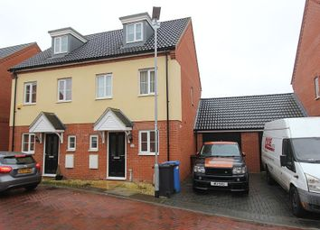 Thumbnail 3 bed semi-detached house for sale in Malkin Close, Ipswich, Suffolk