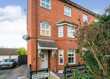 Thumbnail 3 bed end terrace house for sale in Johnson Avenue, Wellingborough