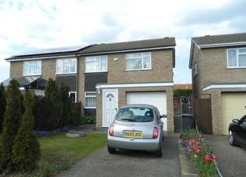 Thumbnail 3 bed semi-detached house to rent in Whitworth Way, Wilstead, Bedford, Beds