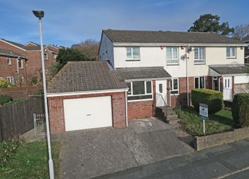 Thumbnail 4 bed semi-detached house for sale in Maddock Drive, Plympton, Plymouth, Devon