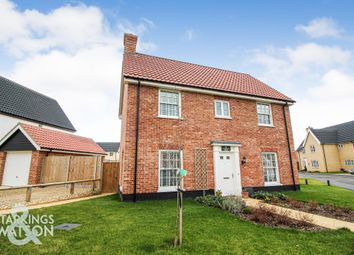 Thumbnail 3 bed detached house for sale in Broomefield Road, Stoke Holy Cross, Norwich