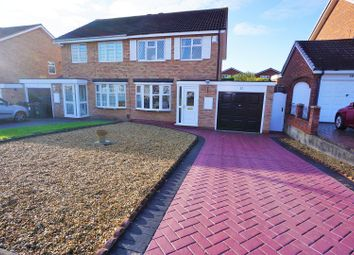 Thumbnail 3 bedroom semi-detached house for sale in Stapleton Close, Sutton Coldfield