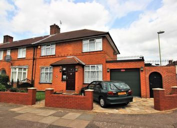 Thumbnail 3 bed end terrace house for sale in Abbots Road, Burnt Oak, Edgware
