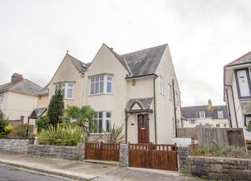 Thumbnail 3 bed semi-detached house for sale in Vapron Road, Mannamead, Plymouth