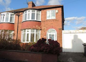 Thumbnail 3 bed semi-detached house to rent in Royston Avenue, Denton, Manchester
