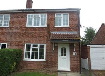 Thumbnail 3 bed semi-detached house to rent in Dycote Lane, Lincoln, Lincolnshire