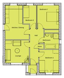 Thumbnail 3 bed detached bungalow for sale in Plot 6, Clay Fields View, Clay Cross, Chesterfield