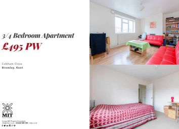 Thumbnail 4 bed flat to rent in Cobham Close, Bromley