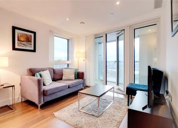 Thumbnail 2 bed flat for sale in Talisman Tower, Lincoln Plaza, London