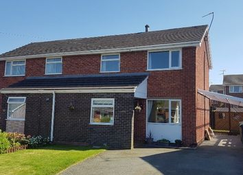 Thumbnail 3 bed semi-detached house for sale in Meadow Rise, Oswestry