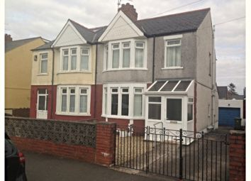 Thumbnail 3 bed semi-detached house for sale in Wellwright Road, Cardiff