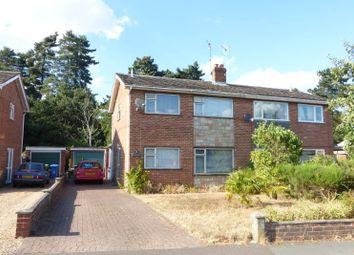 Thumbnail 3 bedroom semi-detached house for sale in Borrowdale Drive, Norwich, Norfolk