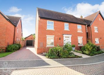 Thumbnail 4 bed link-detached house for sale in Collingwood Close, Poringland, Norwich