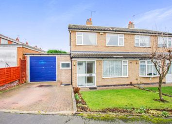 Thumbnail 3 bed semi-detached house for sale in Trent Close, Oadby, Leicester
