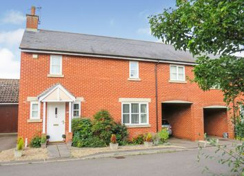 Thumbnail 3 bed end terrace house for sale in Crossberry Way, Helpston, Peterborough