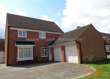Thumbnail 4 bedroom detached house to rent in Wordsworth Avenue, Eaton Ford, St. Neots