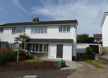 Thumbnail 3 bed semi-detached house for sale in Lambourne Drive, Newton, Swansea