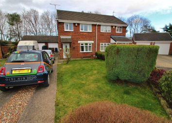 Thumbnail 3 bed semi-detached house for sale in Troon Close, Usworth, Washington, Tyne & Wear