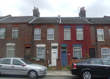 Thumbnail 2 bed terraced house to rent in Newcombe Road, Luton