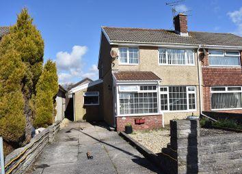 Thumbnail 3 bed semi-detached house for sale in Merlin Crescent, Cefn Glas, Bridgend.