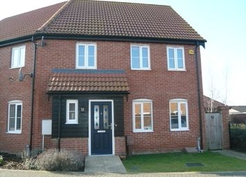 Thumbnail 3 bed end terrace house for sale in Chopyngs Dole Close, Sprowston, Norwich