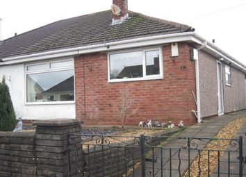 Thumbnail 2 bed semi-detached bungalow for sale in Hospital Road, Penpedairheol