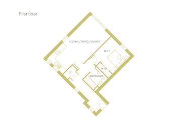 Thumbnail 1 bed flat for sale in Fen Street, Brooklands, Milton Keynes