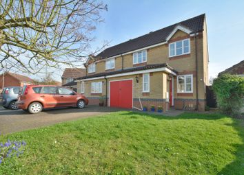Thumbnail 3 bed semi-detached house for sale in Morton Close, Ely