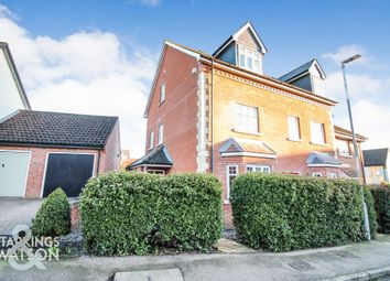 Thumbnail 3 bed town house for sale in Oakfield Road, Long Stratton, Norwich
