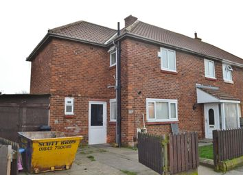 Thumbnail 4 bedroom end terrace house for sale in Roworth Road, Thorntree, Middlesbrough