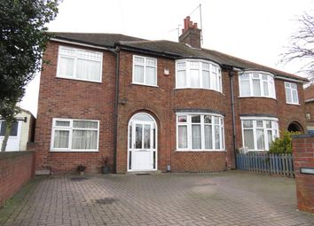 Thumbnail 4 bed semi-detached house for sale in Newark Avenue, Dogsthorpe, Peterborough