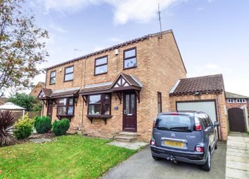 Thumbnail 3 bed semi-detached house for sale in Queen Margarets Drive, Brotherton, Knottingley