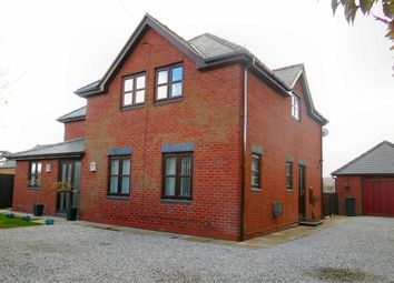 Thumbnail 4 bed detached house for sale in Cae Rhug Lane, Gwernaffield, Flintshire