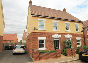 Thumbnail 2 bed semi-detached house for sale in Hebbes Close, Kempston, Beds
