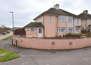 Thumbnail 4 bed semi-detached house for sale in Old Shoreham Road, Lancing, West Sussex